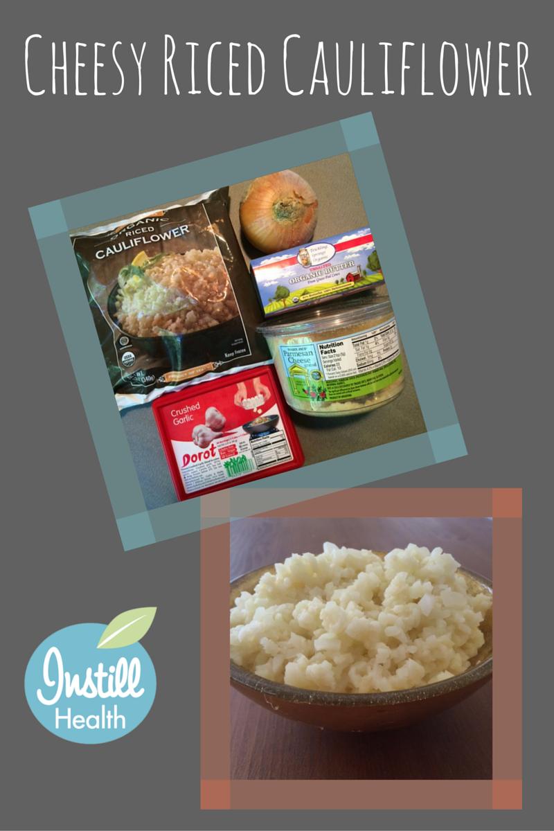 Cheesy Riced Cauliflower